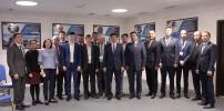 Рабочее совещание Акима г. Алматы Бауыржана Байбека в АО «КазНИИСА» по вопросам развития строительной отрасли мегаполиса.